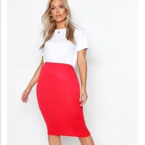 BOOHOO Midi Tube Skirt